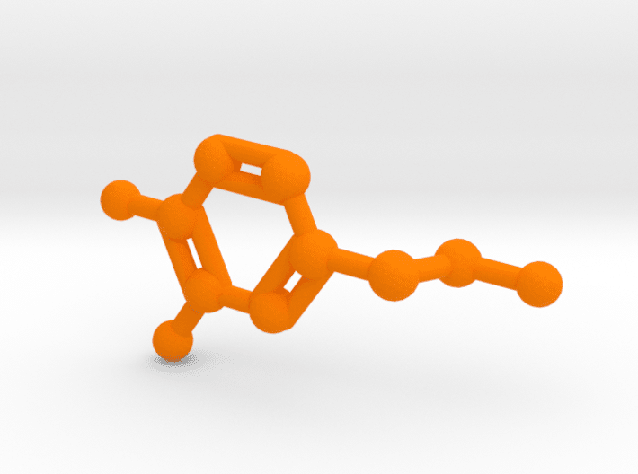 Dopamine Molecule Orange Plastic