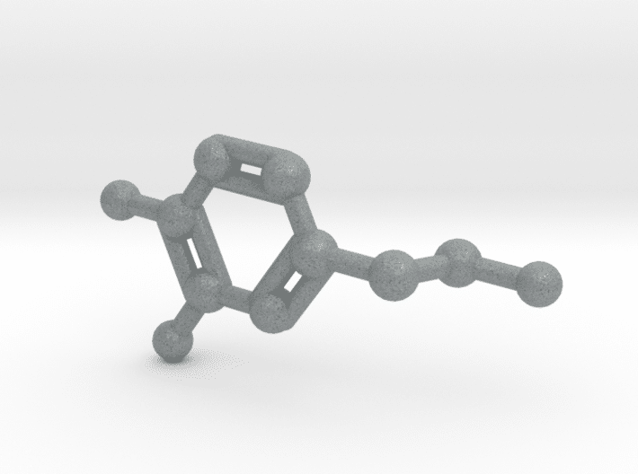 Dopamine Molecule Metallic Plastic