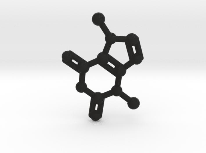 Theobromine Molecule Black Plastic
