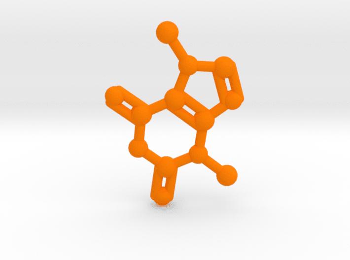 Theobromine Molecule Orange Plastic