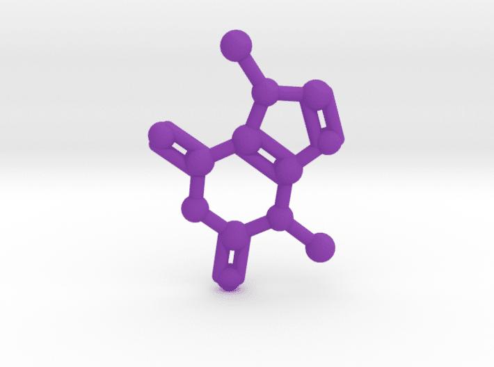Theobromine Molecule Purple Plastic