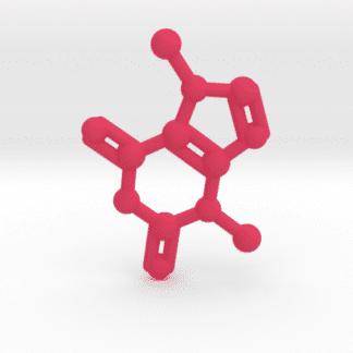Theobromine Molecule Pink Plastic