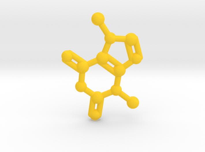 Theobromine Molecule Yellow Plastic
