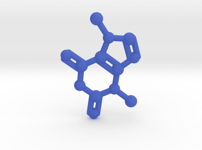 Theobromine Molecule Blue Plastic