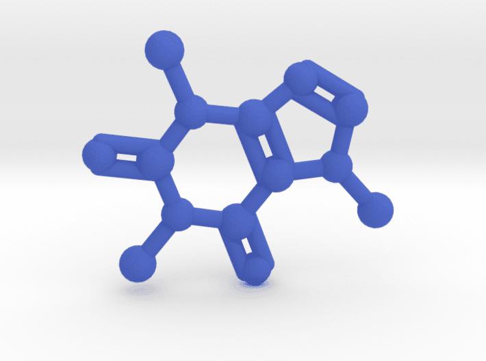 Caffeine Molecule Blue Plastic