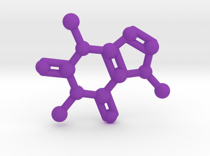 Caffeine Molecule Purple Plastic