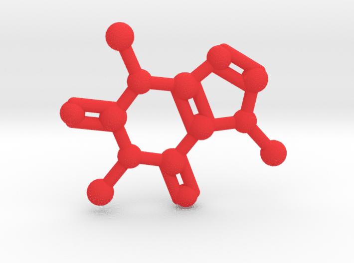 Caffeine Molecule Red Plastic
