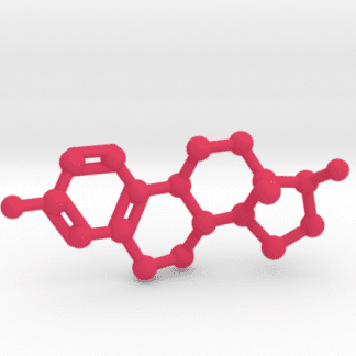 Estrogen Molecule Pink Plastic