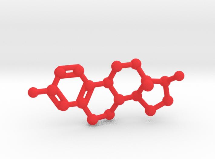 Estrogen Molecule Red PlasticEstrogen Molecule Red Plastic