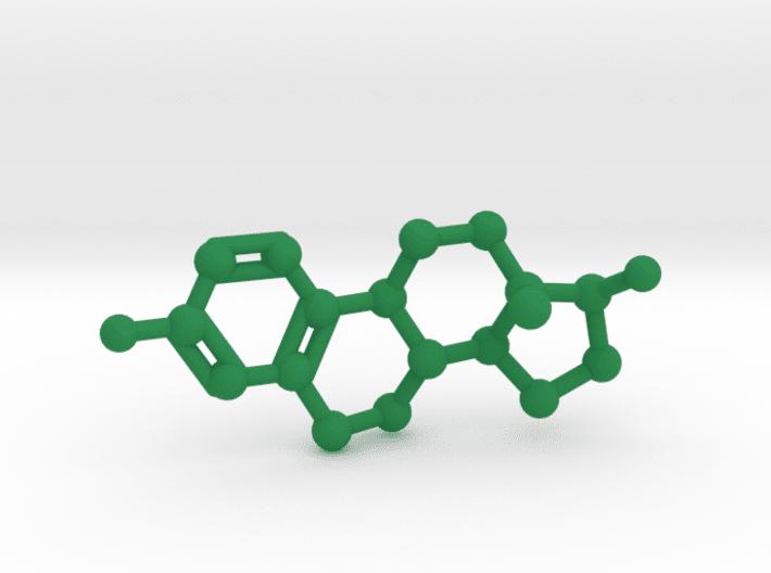 Estrogen Molecule Green Plastic