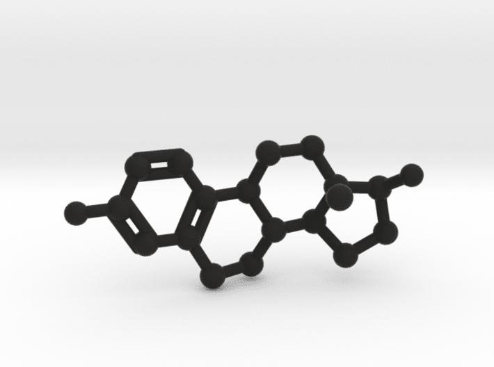 Estrogen Molecule Black Plastic