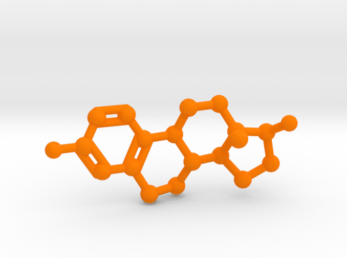 Estrogen Molecule Orange Plastic