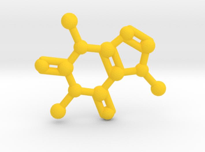 Caffeine Molecule Yellow Plastic