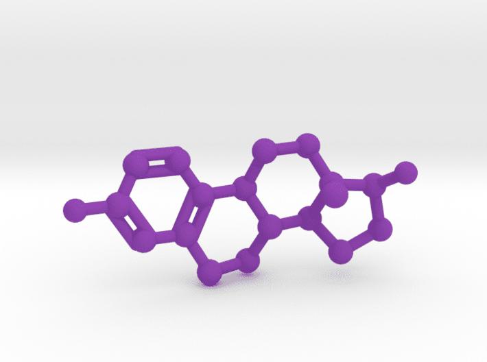 Estrogen Molecule Purple Plastic