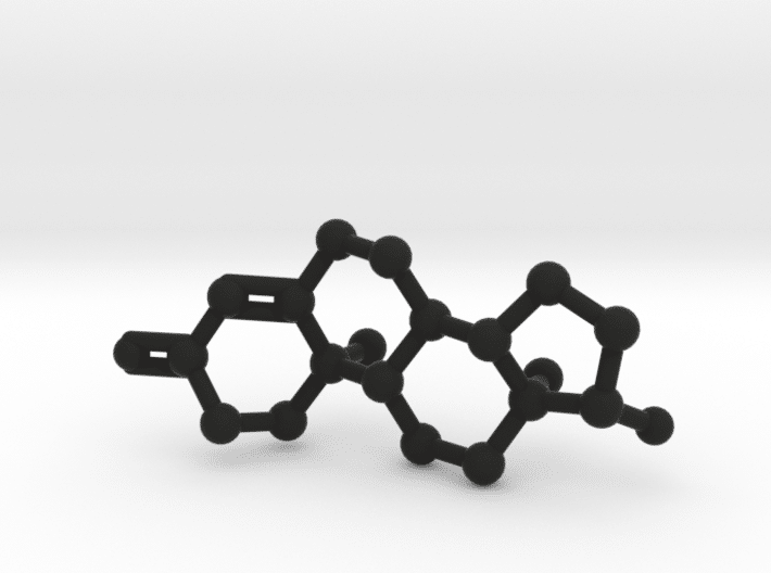 Testosterone Molecule Black Plastic