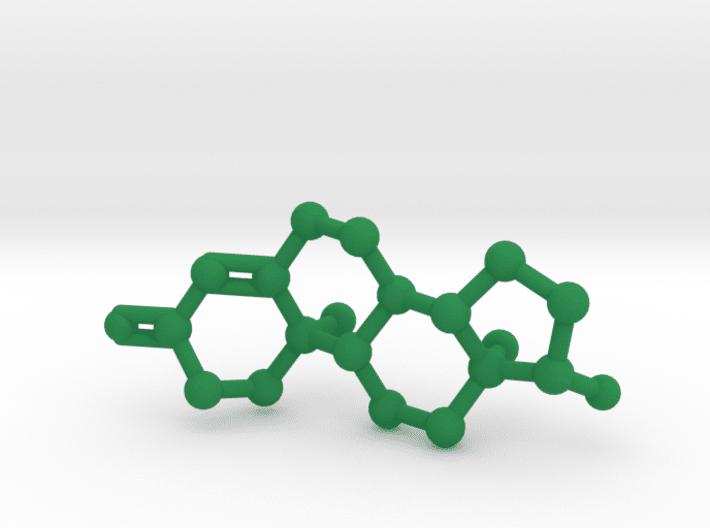 Testosterone Molecule Green Plastic