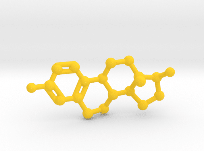 Estrogen Molecule Yellow Plastic