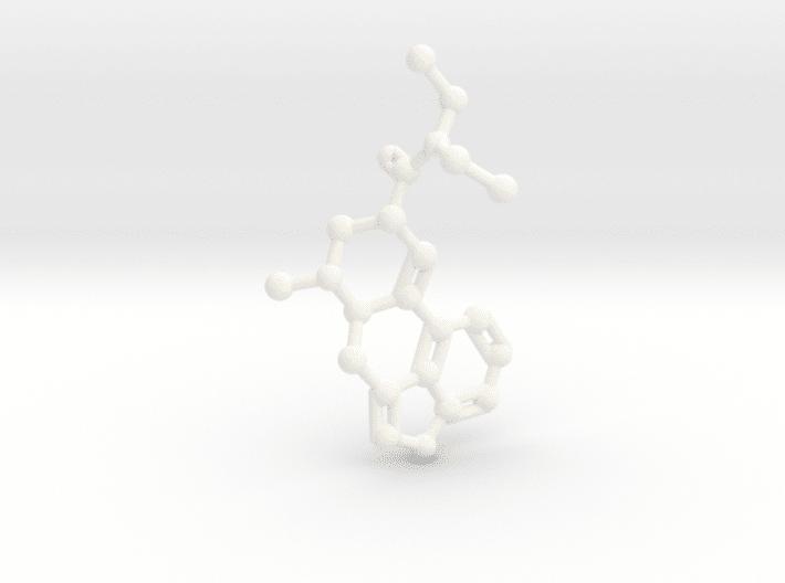 LSD Molecule White Plastic