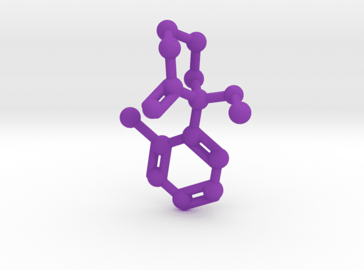 Ketamine Molecule Purple Plastic