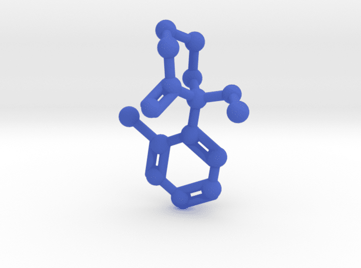 Ketamine Molecule Blue Plastic