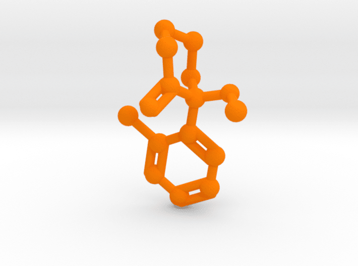 Ketamine Molecule Orange Plastic