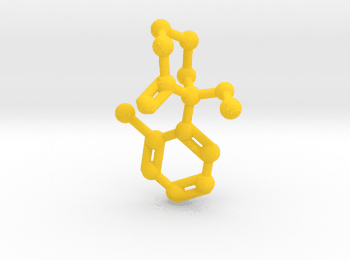 Ketamine Molecule Yellow Plastic