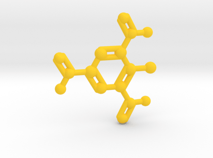 TNT Molecule Yellow Plastic