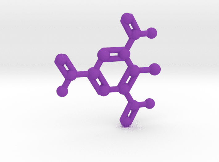 TNT Molecule Purple Plastic