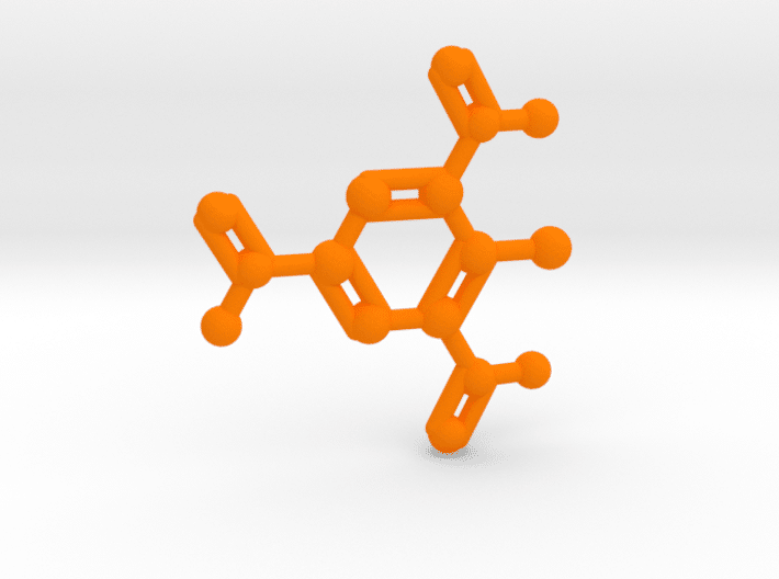 TNT Molecule Orange Plastic