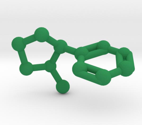 Nicotine Molecule Green Plastic