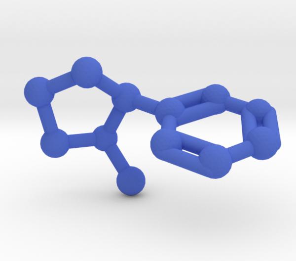 Nicotine Molecule Blue Plastic