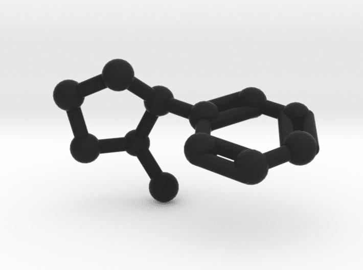 Nicotine Molecule Black Plastic