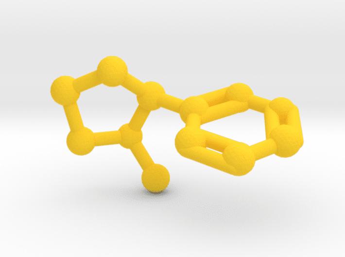 Nicotine Molecule Yellow Plastic