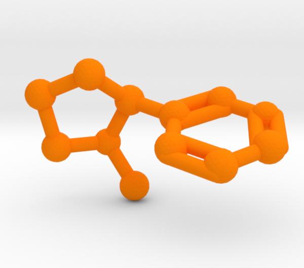 Nicotine Molecule Orange Plastic