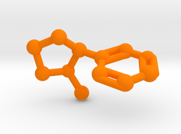 Nicotine Molecule Orange Plastic