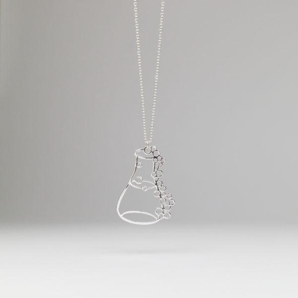 Erlenmeyer Flask Necklace Silver Internet