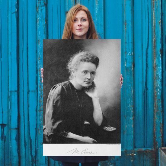 Marie Curie Portrait Poster 24x36