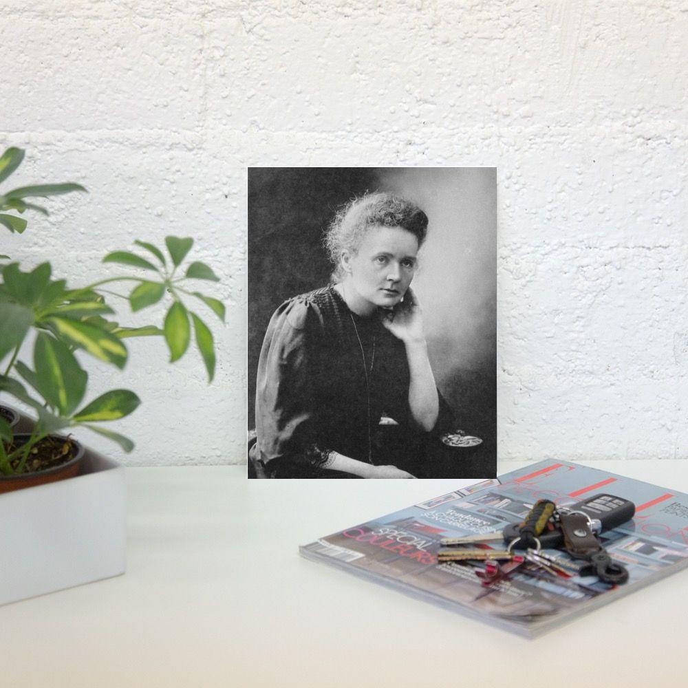 Marie Curie Portrait Poster 8x10