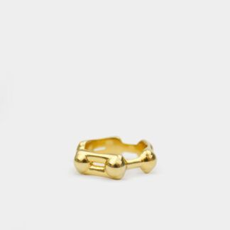Benzene Ring Molecule Ring 18k Gold