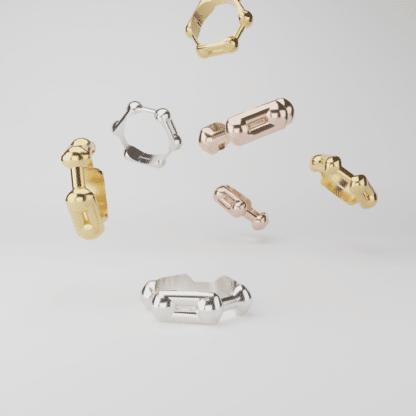 Flying Benzene Ring Rings