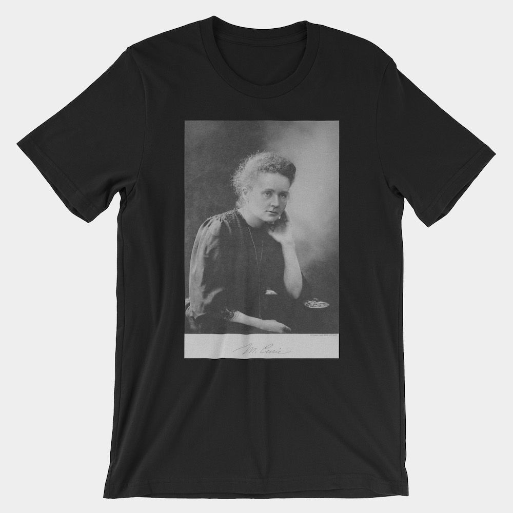 Marie Curie T-Shirt Black 3001
