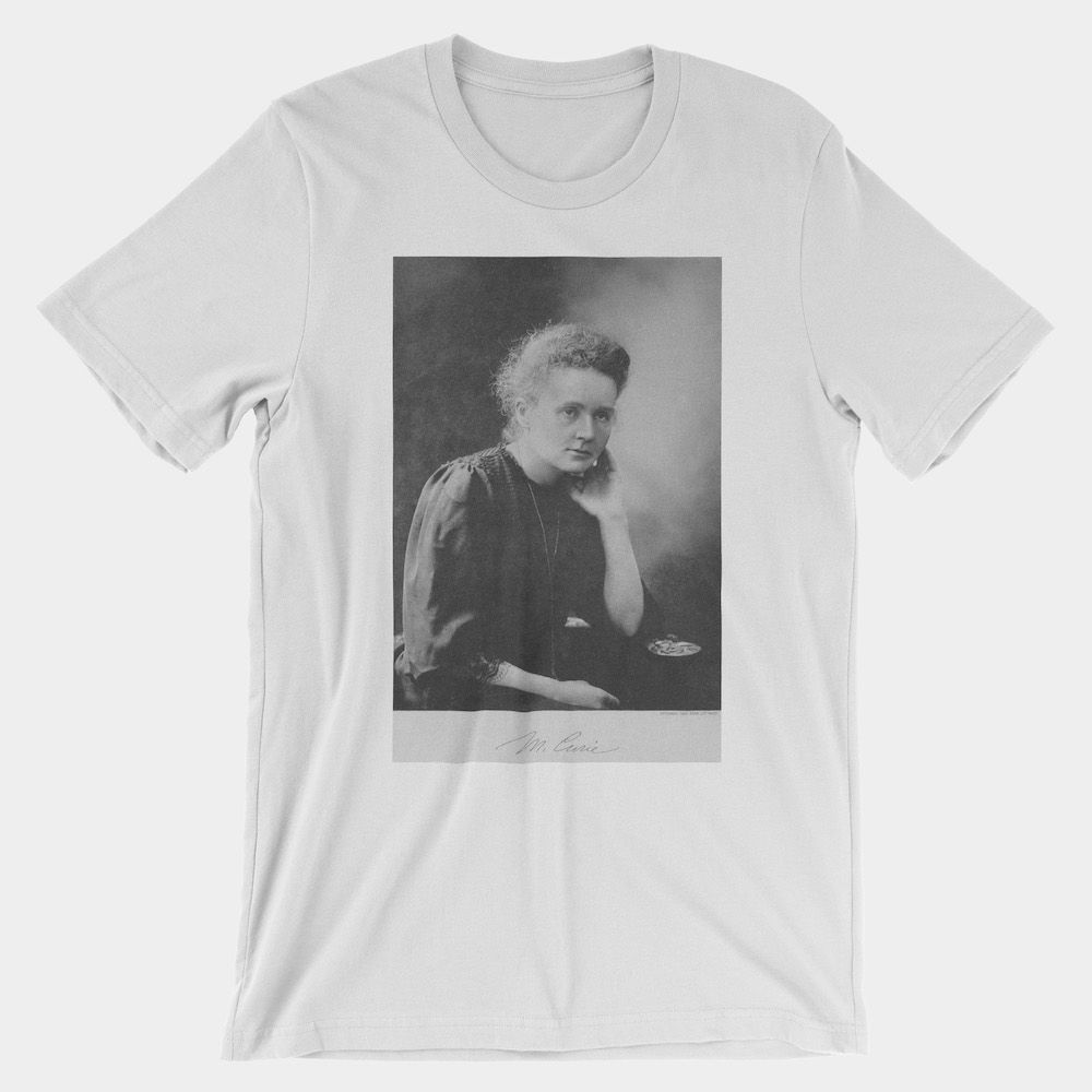 Marie Curie T-Shirt White 3001