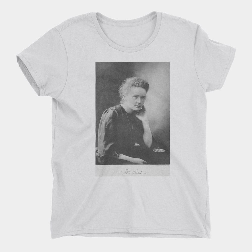 Marie Curie T-Shirt White Ladies