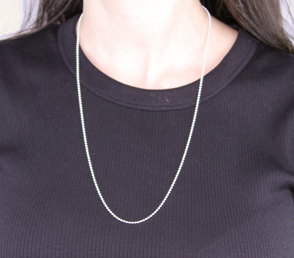Silver Bead Chain 24in / 60.9cm