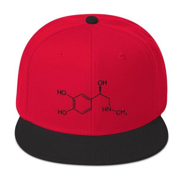 Adrenaline Molecule Cap Red Black