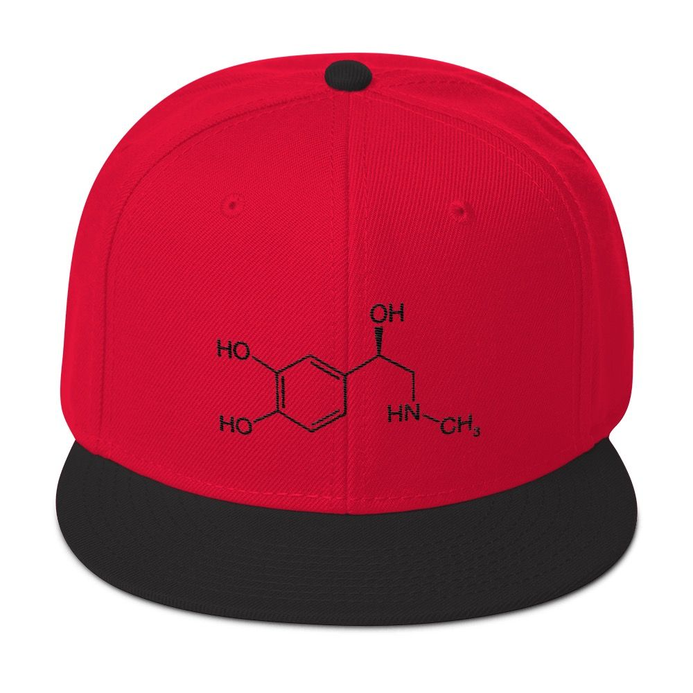 Adrenaline Molecule Cap Red Black
