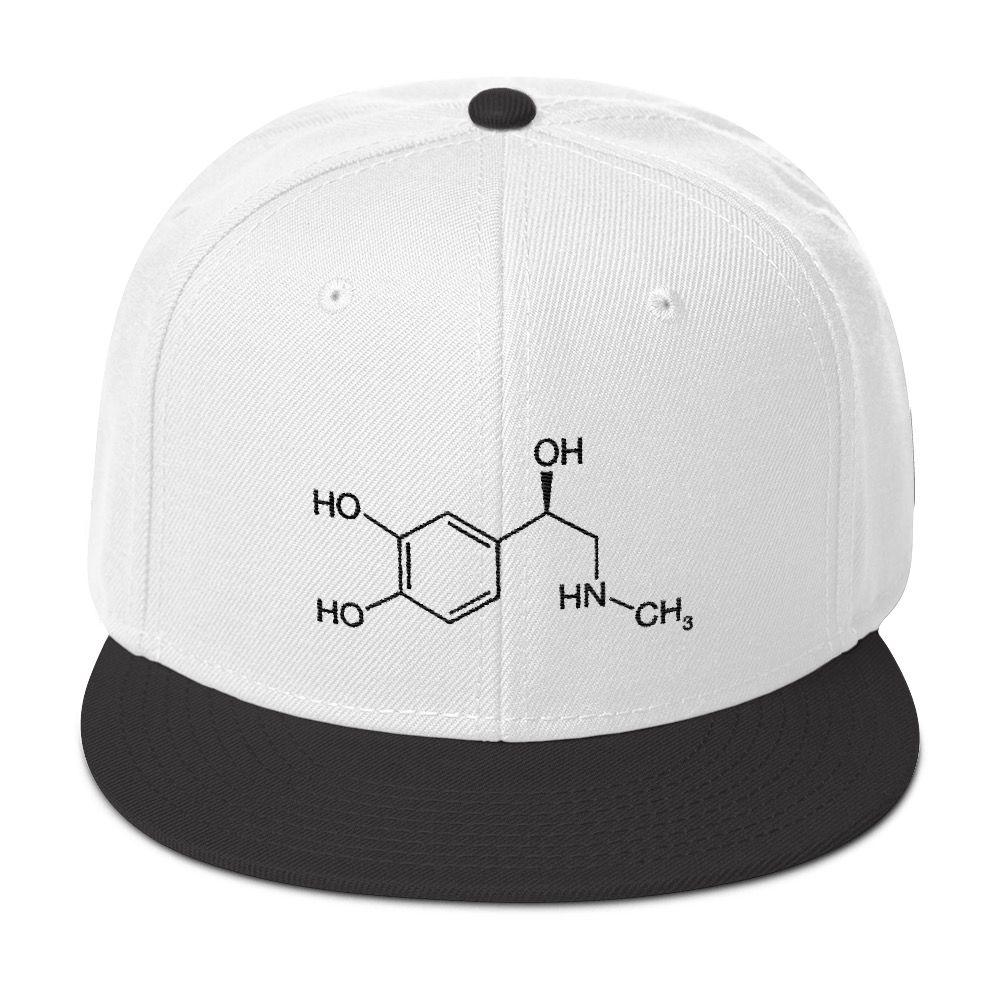 Adrenaline Molecule Cap White Black