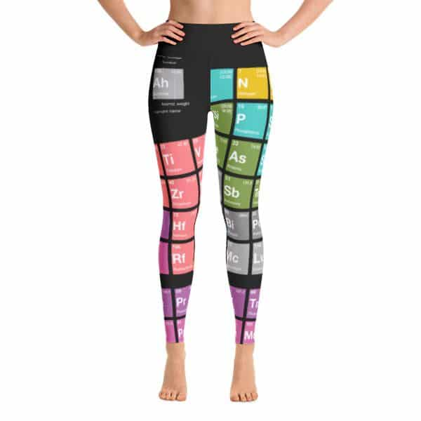 Periodic Table of Elements Yoga Leggings Black