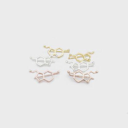 Serotonin Molecule Crawlers Earrings