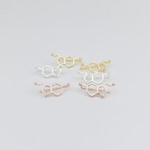 Serotonin Molecule Ear Crawler Earrings